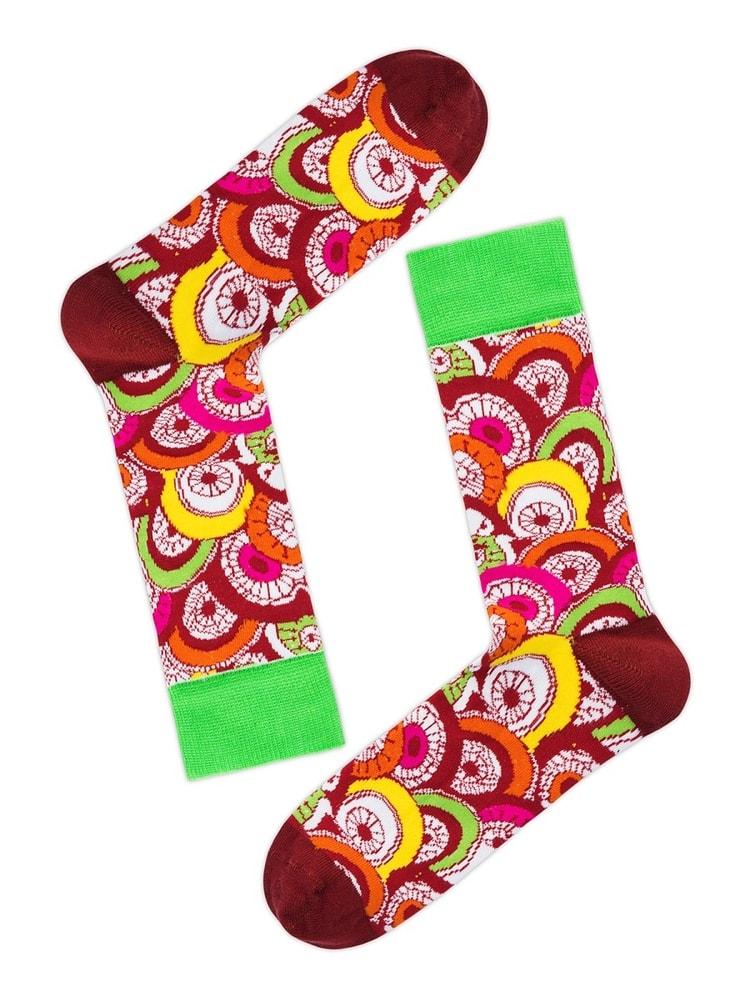 Barevné pánské ponožky OZONEE 018