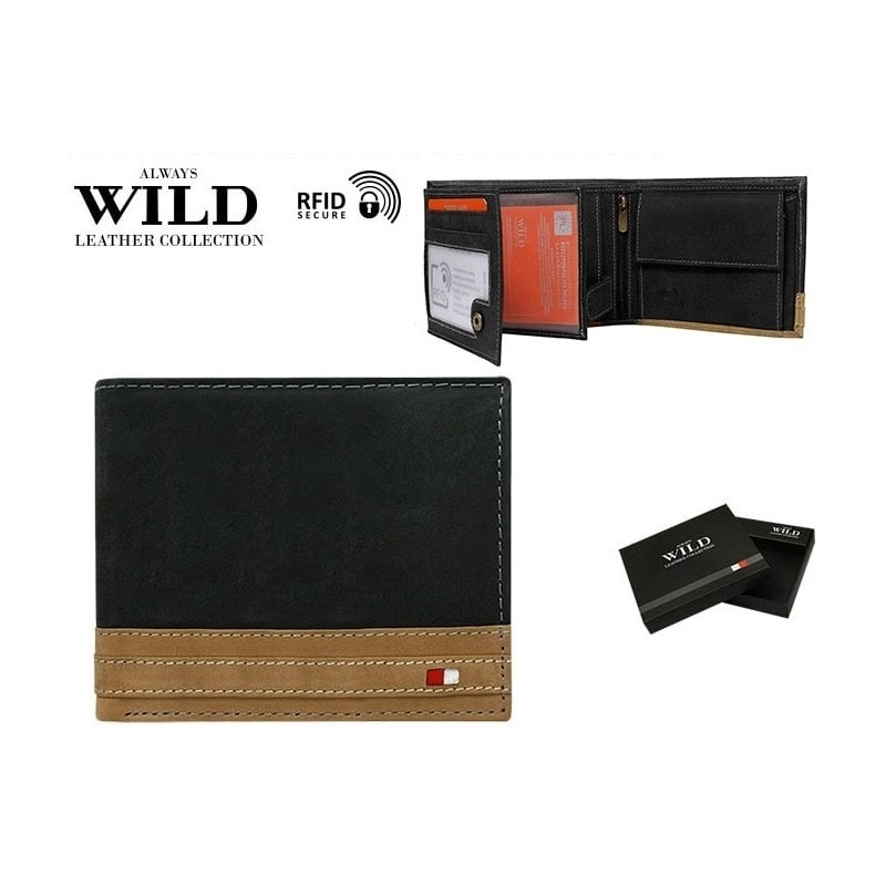 Moderní dvojbarevná pánská peněženka