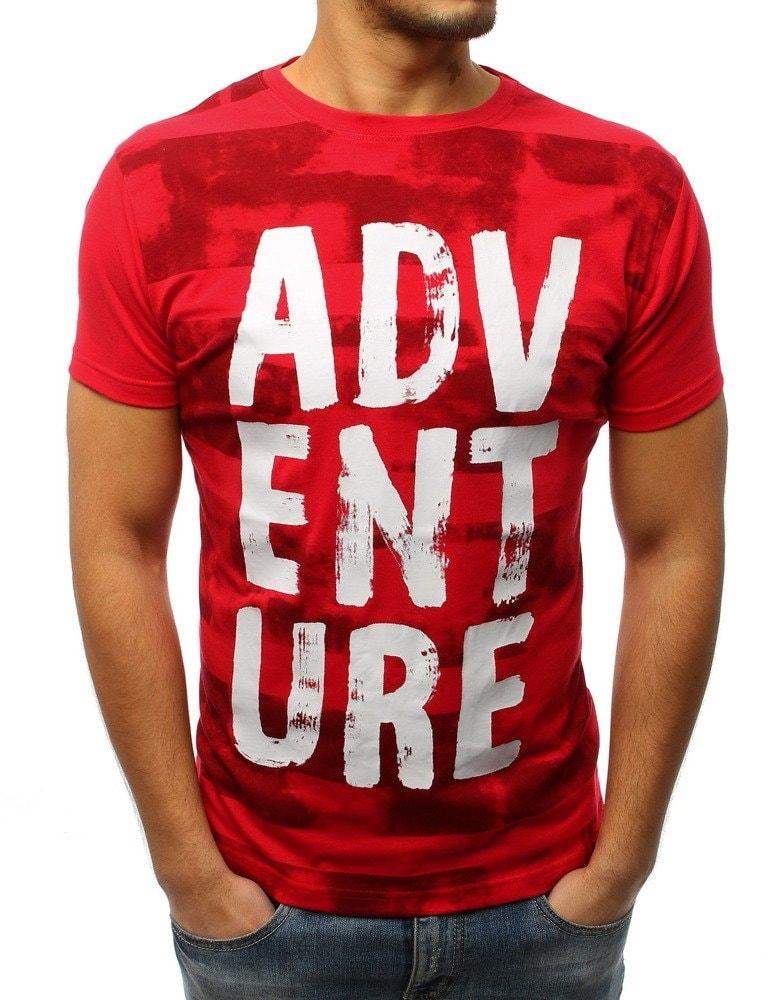 98268bb2eb Dstreet Červené tričko ADVENTURE - L