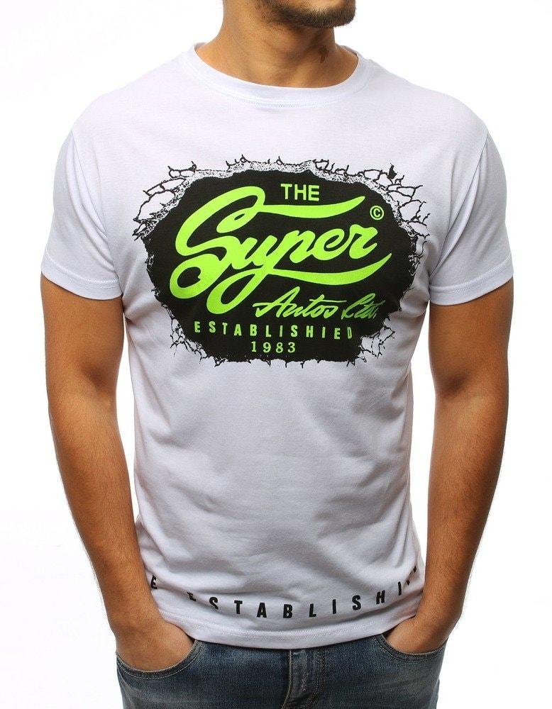 b06f7f0d075a Dstreet Bílé tričko s výrazným potiskem - XL