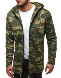 Sleva Skladem Zelená stylová pánská bunda v maskáčovém designu OZONEE 466  ... cdf30d41f91