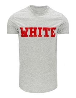 c94d0df14e3 ... Zajímavé šedé tričko s potiskem WHITE