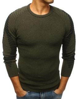 788ae1bd091 Sleva Skladem Fantastický zelený pánský svetr ...