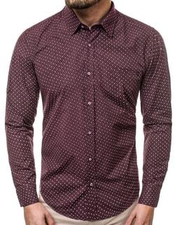 Skladem Stylová vzorovaná pánská košile OZONEE R K55 ... e2ff9b9a3c