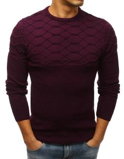 Sleva Skladem Bordó svetr v módním provedení ... 6304f4aea0
