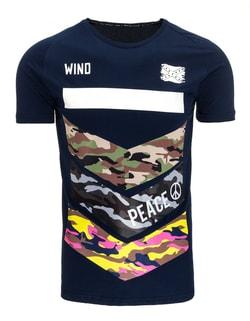 d0c28e8f1b6 ... Tmavě modré pánské módní tričko WIND