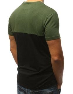 ... Zelené pánské tričko s krátkým rukávem 593cee0003