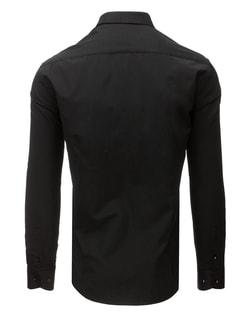 ab98f2e4778 ... Černá elegantní SLIM FIT pánská košile