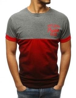 Sleva Skladem Originální šedo-červené tričko s potiskem ... 337f8b7c63