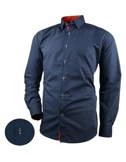 206f55f6fda Skladem Granátová pánská košile s drobnými tečkami V267 ...