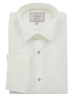 165d30911b0 Sleva Skladem Biela pánska košeľa slim fit na motýlik