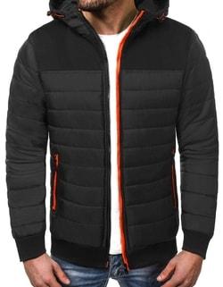 Skladem Zajímavá zimní pánská bunda černá OZONEE JS TY15 ... 8b9d76b5daf
