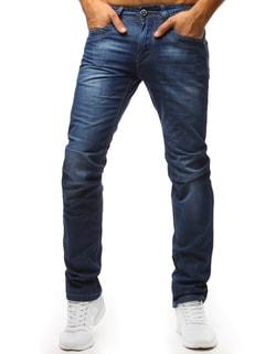 Sleva Skladem Jednoduché pánské modré džíny ... 41a1503941