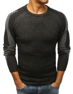 Sleva Skladem Fantastický černý pánský svetr ... b7ced4a5d8