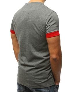 ... Originální šedo-červené tričko s potiskem c1999c625c