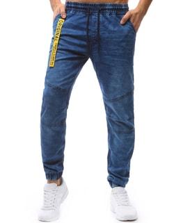 Sleva Skladem Pánské nebesky modré jogger kalhoty se žlutým doplňkem ... 8ddeae62c5
