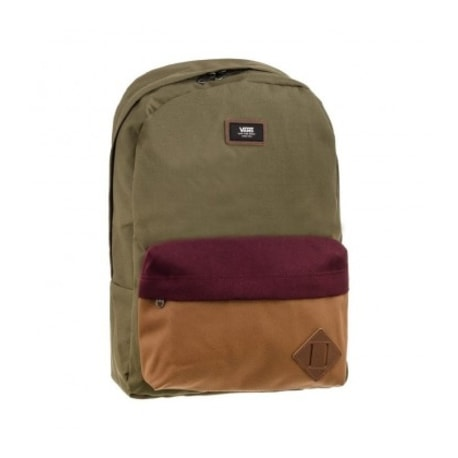 Khaki batoh MN OLD SKOOL II ZPĚT GRAPE LEAF COLORBLOCK