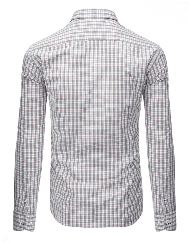 Kostkovaná pohodlná pánská šedá košile - Budchlap.cz 2a41d8c4e5