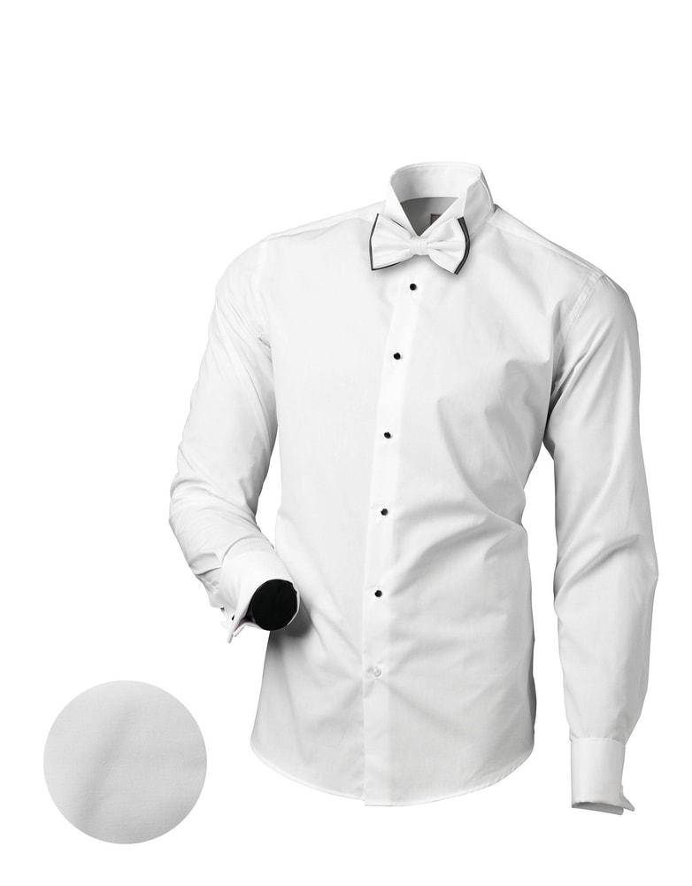 c4b6623eb47 Slavnostní White Tie bílá slim fit košile V151 - Budchlap.cz