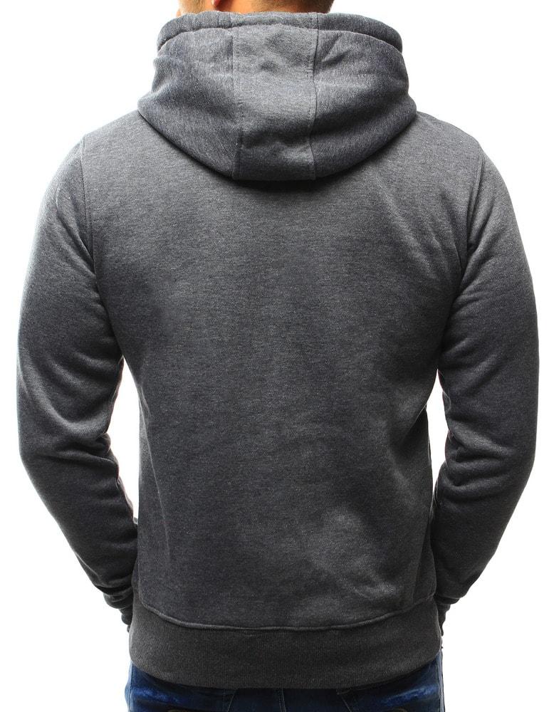 Kombinovaná tmavě šedá mikina s kapucí - Budchlap.cz baa08846a2