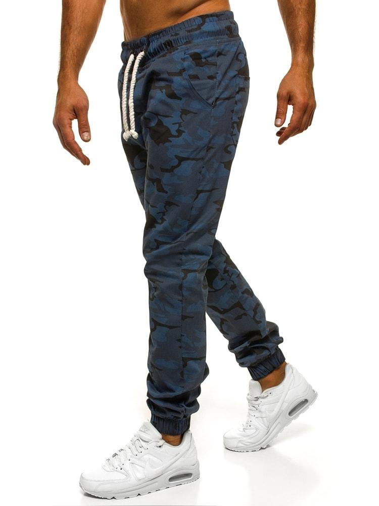 Tmavě modré pohodlné maskáčové joggery ATHLETIC 367 - Budchlap.cz f6a66fbd31