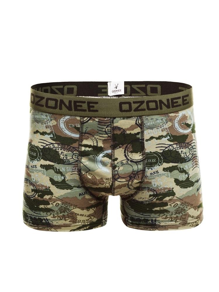 7d8a9cfd8ca Khaki pánské army boxerky OZONEE 0953 - Budchlap.cz