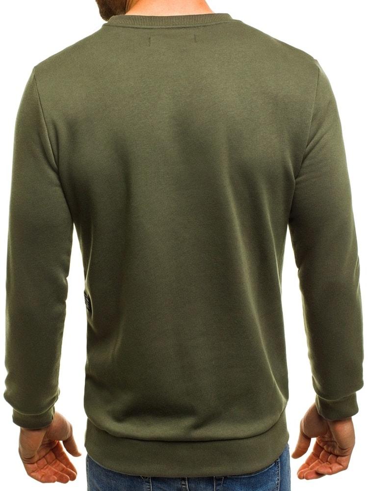 Zelená pánská módní mikina BREEZY 171715 - Budchlap.cz 83abe629850