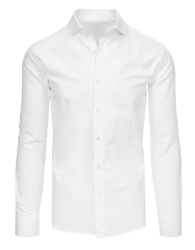 e6a27a8d295 Jednoduchá bílá elegantní košile - Budchlap.cz