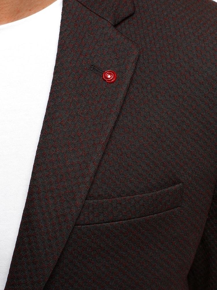 Černo-červené pánské moderní sako SIVIS PARIS 1702 - Budchlap.cz 83ae6485c6
