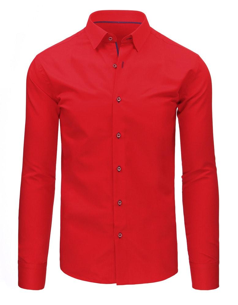 f9fca5bee52 Jasně červená pánská košile - Budchlap.cz