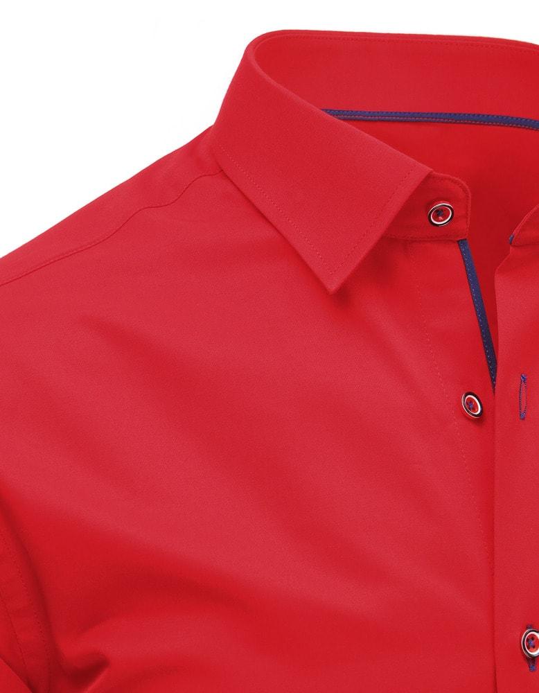 f66d1b453dd Jasně červená pánská košile - Budchlap.cz
