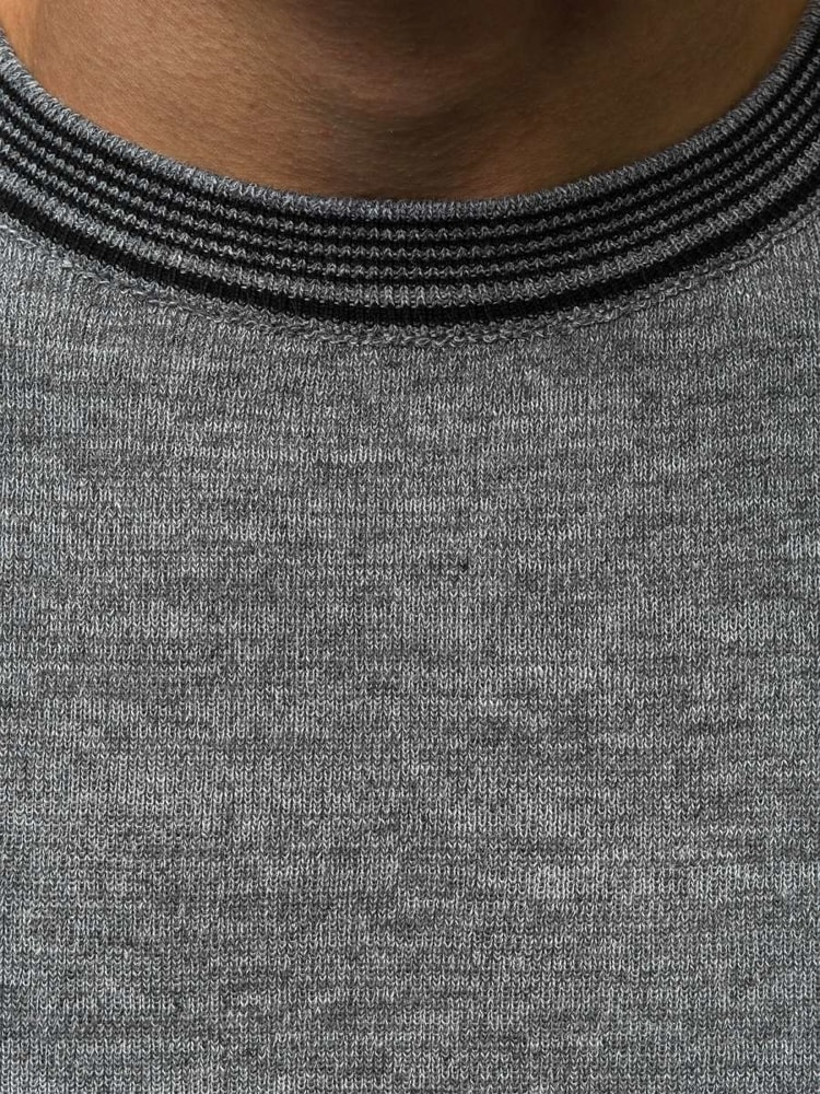 Stylový pánský šedý svetr HR 1832 - Budchlap.cz c029908c3b