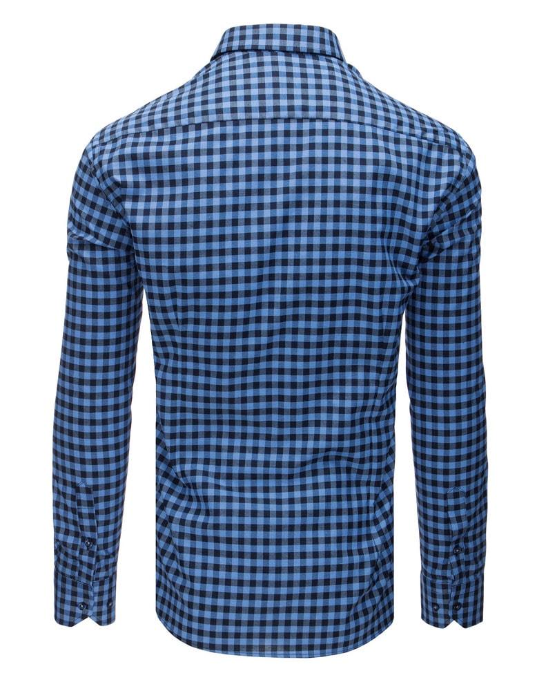 ab487e36ed1 Stylová modrá košile s kapsou - Budchlap.cz