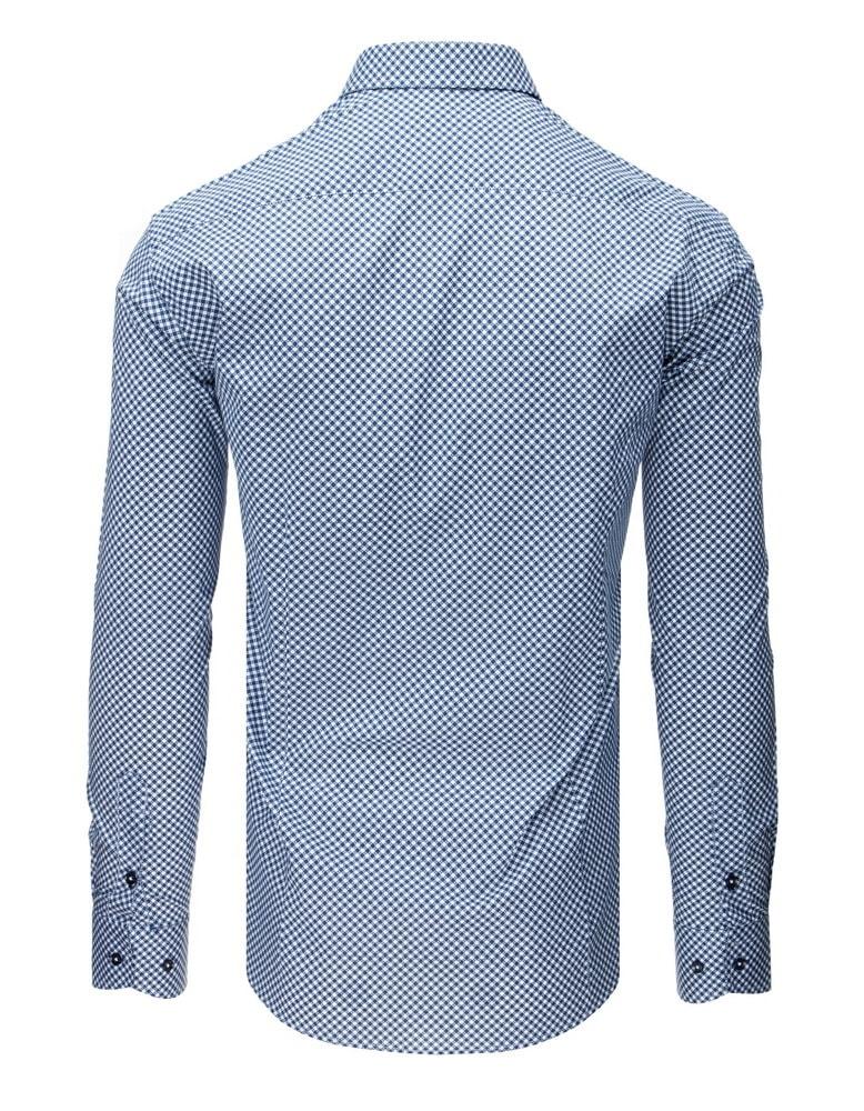 15f30b23336 Bílo-tmavě modrá košile s puntíky - Budchlap.cz