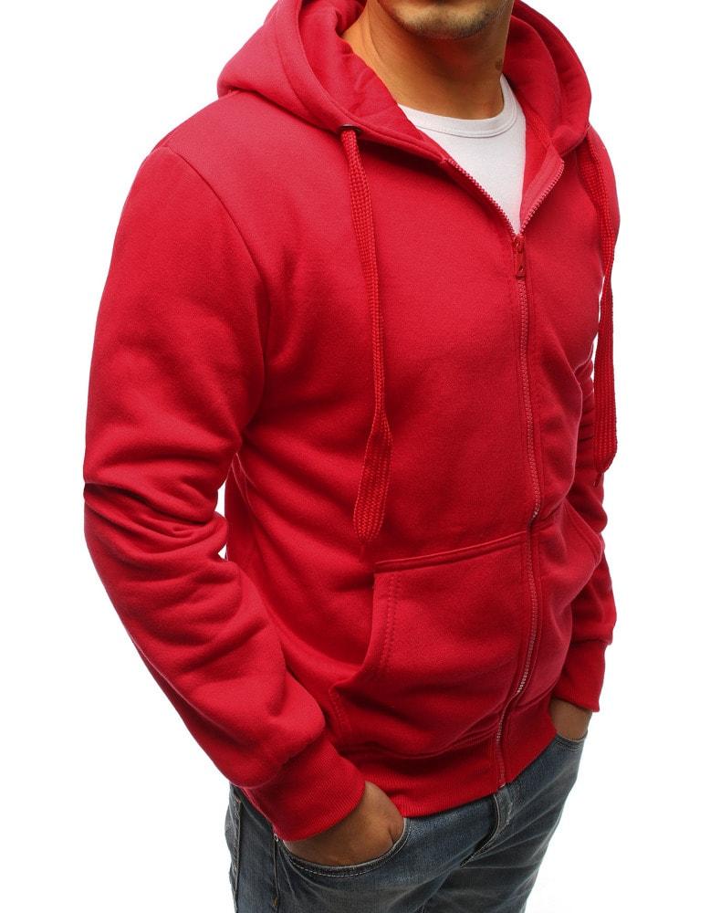 Stylová červená mikina s kapsami - Budchlap.cz d5c1373dcf