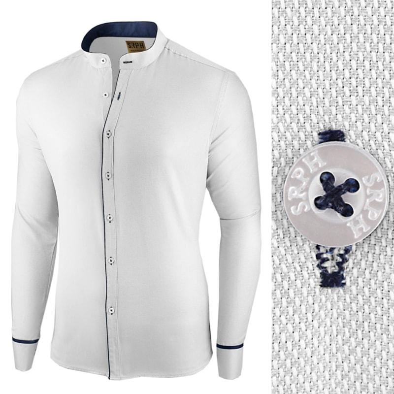 9bcc18ee814e Biela slim fit košeľa Neo Elegance - Budchlap.cz