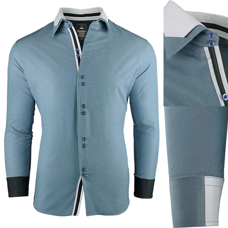 Super slim fit pánská modrá košile - Budchlap.cz 765cad04d7