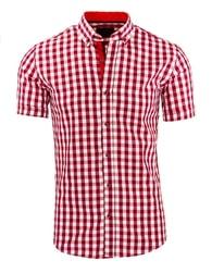 Kostkovaná červená módní košile