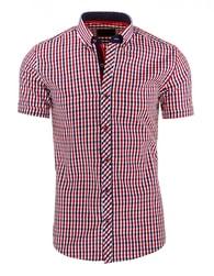 Výrazná kostkovaná červená košile