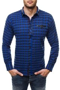 Tmavě modrá flanelová košile ZAZZONI 944