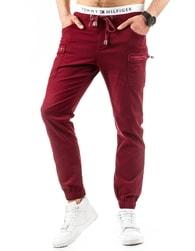 Pánské bordó sportovní kalhoty
