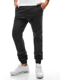 Stylové černé pánské kalhoty Athletic 449 - L