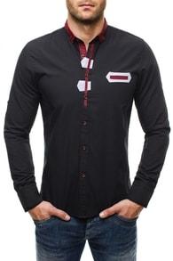 Elegantní černá košile Raw Lucci 586