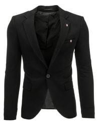 Módní černé pánské sako