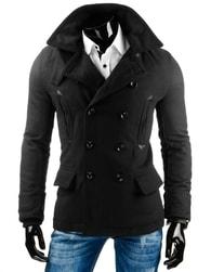 Černý elegantní pánský kabát