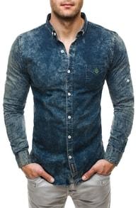 Extravagantní modrá košile Madmext 493