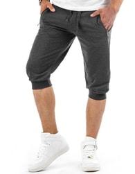 Tmavě šedé pánské baggy kraťasy - XL
