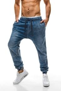 Jedinečné nebesky modré pudlové džíny 80310