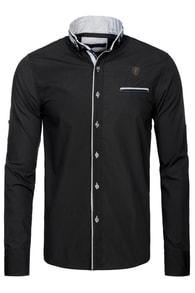 Elegantní košile černá RAW LUCCI 526