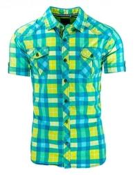 Stylová kostkovaná modrá košile pánská